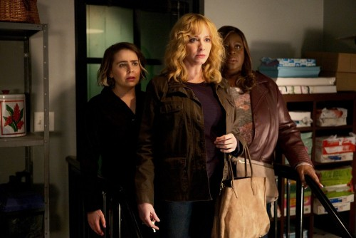 "GOOD GIRLS -- ""Au Jus"" Episode 305 -- Pictured: (l-r) Mae Whitman as Annie Marks, Christina Hendrick"
