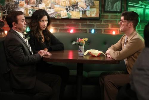 "BROOKLYN NINE-NINE -- ""Trying"" Episode 706 -- Pictured: (l-r) Joe Lo Truglio as Charles Boyle, Steph"