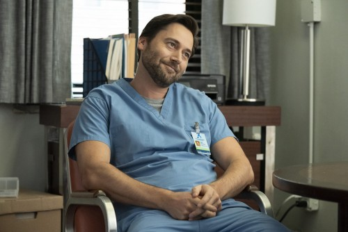 """NEW AMSTERDAM -- """"Perspectives"""" Episode 216 -- Pictured: Ryan Eggold as Dr. Max Goodwin -- (Photo by"""