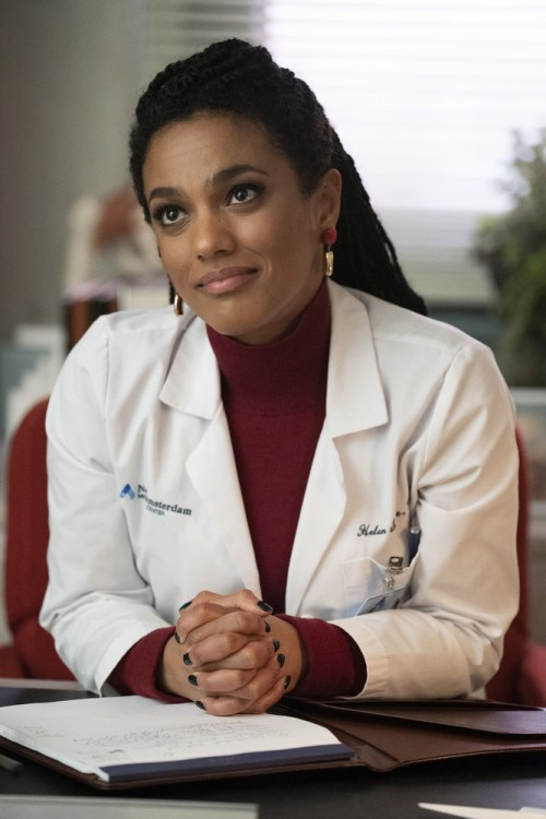 "NEW AMSTERDAM -- ""Perspectives"" Episode 216 -- Pictured: Freema Agyeman as Dr. Helen Sharpe -- (Phot"