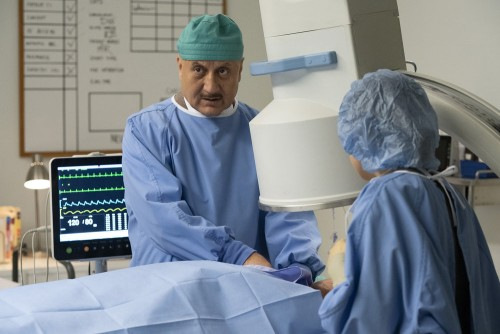 "NEW AMSTERDAM -- ""Perspectives"" Episode 216 -- Pictured: Anupam Kher as Dr. Vijay Kapoor -- (Photo b"