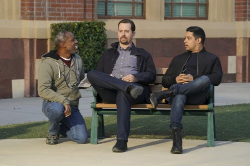 """""""Schooled"""" -- The team searches for answers when the body of a well-regarded Navy technician in the"""