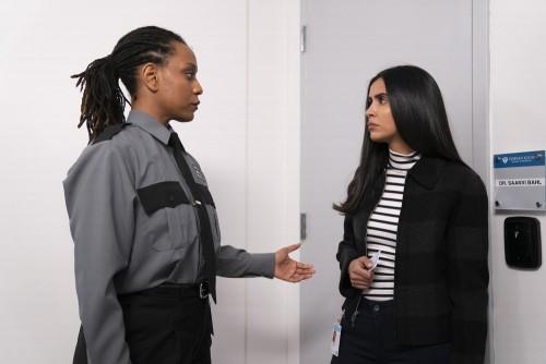 "MANIFEST -- ""Unaccompanied Minors"" Episode 211 -- Pictured: (l-r) Kedren Spencer as Luisa, Parveen K"