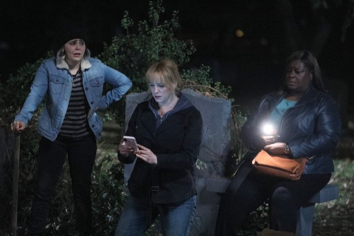 "GOOD GIRLS -- ""Fere Jacques"" Episode 306 -- Pictured: (l-r) Mae Whitman as Annie Marks, Chirstina He"