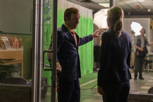 Bob Odenkirk as Jimmy McGill, Rhea Seehorn as Kim Wexler - Better Call Saul _ Season 5, Episode 6 -