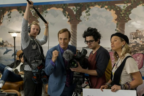 Julian Bonfiglio as Sound Guy, Bob Odenkirk as Jimmy McGill, Josh Fadem as Camera Guy, Hayley Holmes