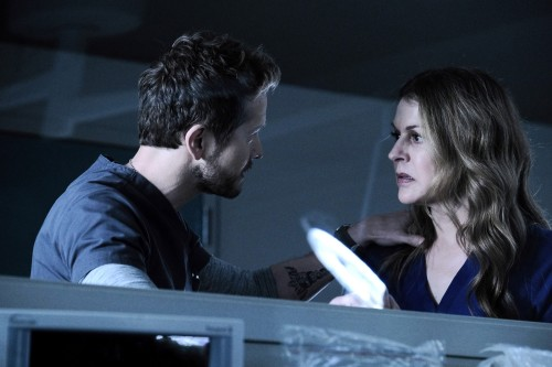 """THE RESIDENT:  L-R:  Matt Czuchry and Jane Leeves in the """"Burn it All Down"""" season finale episode of"""