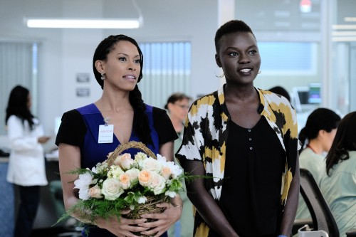 """THE RESIDENT: L-R:  Guest star Kearran Giovanni and Shaunette Rene Wilson in the """"Burn it All Down"""""""