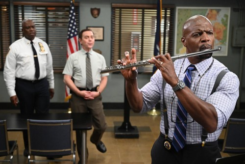 "BROOKLYN NINE-NINE -- ""Admiral Peralta"" Episode 710 -- Pictured: (l-r) Andre Braugher as Ray Holt, J"