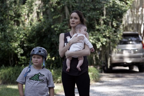 "COUNCIL OF DADS -- ""I'm Not Fine"" Episode 102 -- Pictured: (l-r) Blue Chapman as JJ Perry, Sarah Way"
