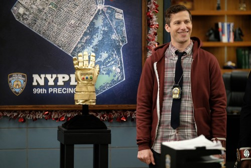 "BROOKLYN NINE-NINE -- ""Valloweaster"" Episode 711 -- Pictured: Andy Samberg as Jake Peralta -- (Photo"