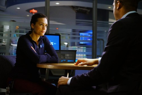"""CHICAGO MED -- """"A Needle In The Heart"""" Episode 520 -- Pictured: (l-r) Torrey DeVitto as Natalie Mann"""