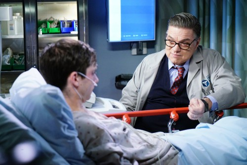 "CHICAGO MED -- ""A Needle In The Heart"" Episode 520 -- Pictured: (l-r) Oliver Platt as Daniel Charles"