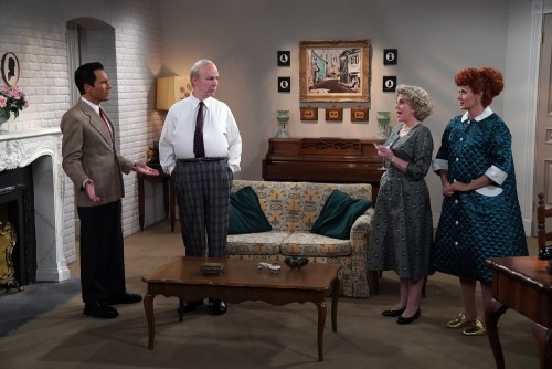 """WILL & GRACE -- """"We Love Lucy"""" Episode 316 -- Pictured: (l-r) Eric McCormack as Will Truman/Ricky, S"""