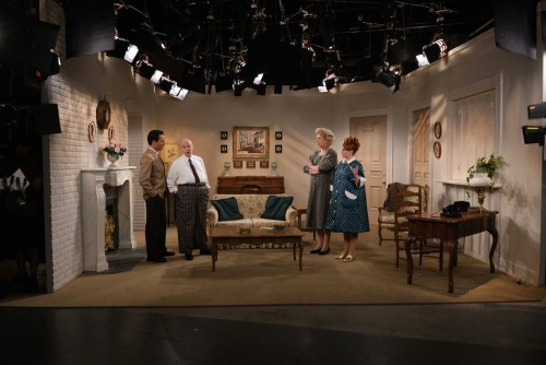 """WILL & GRACE -- """"We Love Lucy"""" Episode 316 -- Pictured: (l-r) Eric McCormack as Will Truman/Ricky, D"""