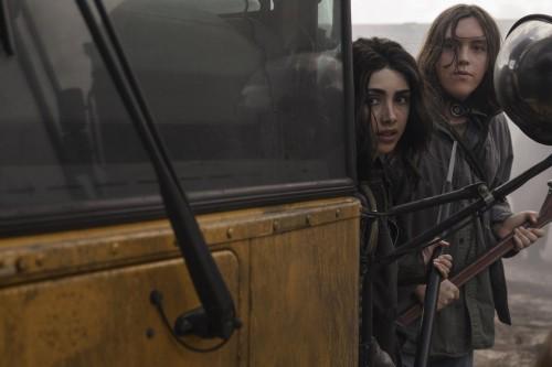 Alexa Mansour as Hope, Hal Cumpston as Silas - TWD3 _ Season 1 - Photo Credit: Jojo Whilden/AMC