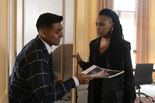 Mauricio Hidalgo as Staffer #1, Cherise Boothe as Lee- Dispatches from Elsewhere _ Season 1, Episode