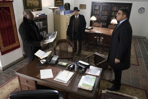 "THE BLACKLIST -- ""Nyle Hatcher (#149)"" Episode 716 -- Pictured: (l-r) -- (Photo by: Virginia Sherwoo"