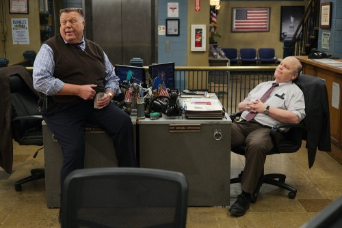 "BROOKLYN NINE-NINE -- ""Ransom"" Episode 712 -- Pictured: (l-r) Joel McKinnon Miller as Scully, Dirk B"