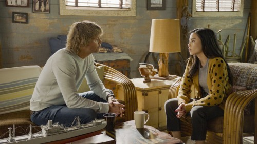 """Murder of Crows"" - Pictured: Eric Christian Olsen (LAPD Liaison Marty Deeks) and Anna Akana (Rhea M"