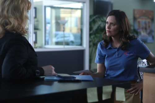 """GOOD GIRLS -- """"Synergy"""" Episode 311 -- Pictured: (l-r) Christina Hendricks as Beth Boland, Ione Skye"""