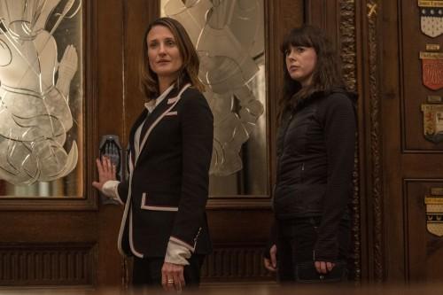 Camille Cottin as Helene, Alexandra Roach as Rhian- Killing Eve _ Season 3, Episode 7 - Photo Credit