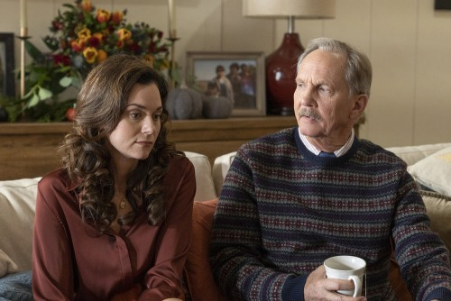 """COUNCIL OF DADS -- """"Tradition"""" Episode 105 -- Pictured: (l-r) Hilarie Burton as Margot, Michael O'Ne"""