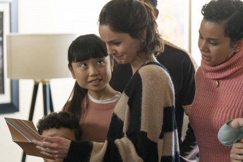 """COUNCIL OF DADS -- """"Tradition"""" Episode 105 -- Pictured: (l-r) Blue Chapman as JJ Perry, Thalia Tran"""