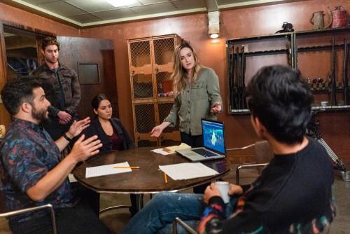 "BLINDSPOT -- ""Fire & Brimstone"" Episode 506 -- Pictured: (l-r) Ennis Esmer as Rich Dotcom, Audrey Es"