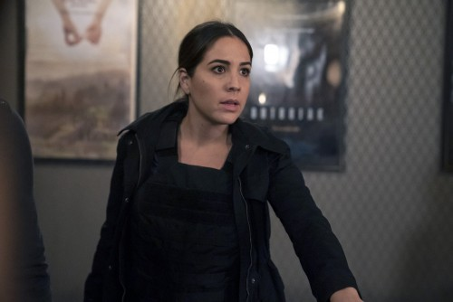 """BLINDSPOT -- """"Love You to Bits and Bytes"""" Episode 510 -- Pictured: Audrey Esparza as Tasha Zapata --"""