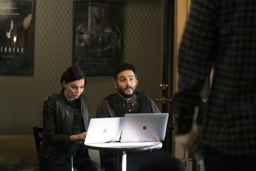 """BLINDSPOT -- """"Love You to Bits and Bytes"""" Episode 510 -- Pictured: (l-r) Heather Burns as Kathy Gust"""
