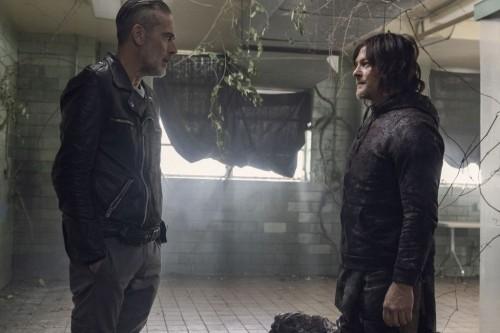 Norman Reedus as Daryl Dixon, Jeffrey Dean Morgan as Negan - The Walking Dead _ Season 10, Episode 1