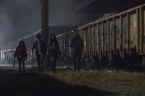 Norman Reedus as Daryl Dixon, Josh McDermitt as Dr. Eugene Porter, Eleanor Matsuura as Yumiko, Paola