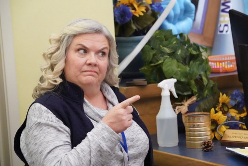 """A.P. BIO -- """"Tiny Problems"""" Episode 301 -- Pictured: Paula Pell as Helen -- (Photo by: Evans Vestal"""