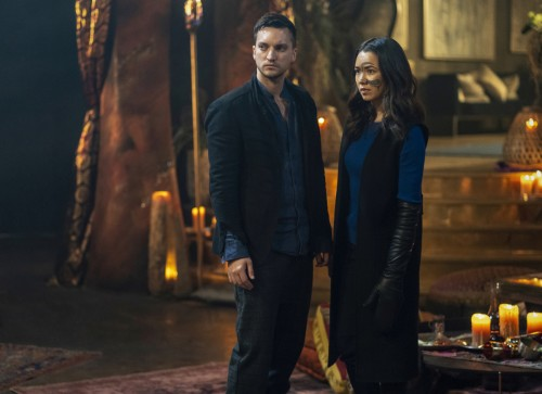 """The 100 -- """"Blood Giant"""" -- Image Number: HU711B_0500r.jpg -- Pictured (L-R): Richard Harmon as Murp"""