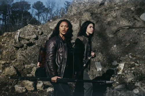 Alexa Mansour as Hope, Aliyah Royale as Iris- The Walking Dead: World Beyond _ Season 1, Gallery - P