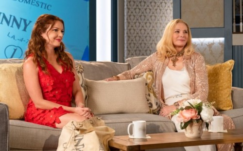 "FILTHY RICH: L-R: Aubrey Dollar and Kim Cattrall in the ""Psalm 25:3"" episode of FILTHY RICH airing M"