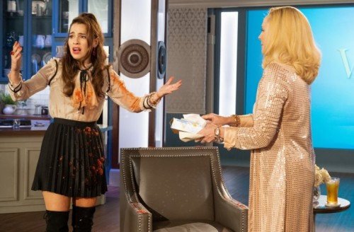 """FILTHY RICH: L-R: Melia Kreiling and Kim Cattrall in the """"Psalm 25:3"""" episode of FILTHY RICH airing"""
