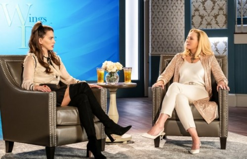 "FILTHY RICH: L-R: Melia Kreiling and Kim Cattrall in the ""Psalm 25:3"" episode of FILTHY RICH airing"
