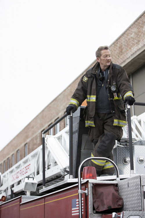"""CHICAGO FIRE -- """"Smash Therapy"""" Episode 903 -- Pictured: (l-r) Christian Stolte as Randall Mouch McH"""
