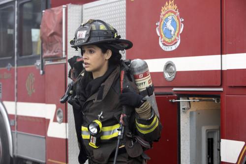 "CHICAGO FIRE -- ""Smash Therapy"" Episode 903 -- Pictured: Miranda Rae Mayo as Stella Kidd -- (Photo b"