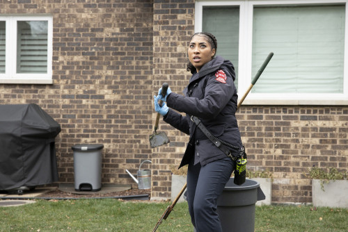 "CHICAGO FIRE -- ""Smash Therapy"" Episode 903 -- Pictured: Adriyan Rae as Gianna Mackey -- (Photo by:"