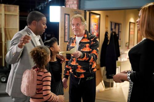 """KENAN -- """"4th Hour"""" Episode 103 -- Pictured: (l-r) Dannah Lane as Birdie, Kenan Thompson as Kenan, D"""