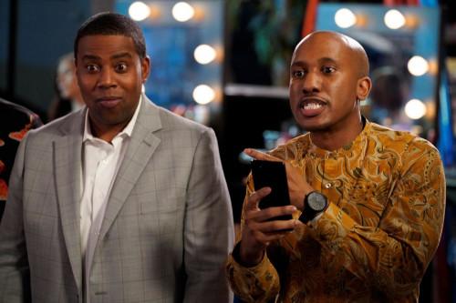 """KENAN -- """"4th Hour"""" Episode 103 -- Pictured: (l-r) Kenan Thompson as Kenan, Chris Redd as Gary -- (P"""