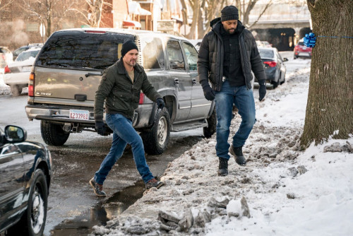 "CHICAGO P.D. -- ""Protect And Serve"" Episode 808 -- Pictured: (l-r) Patrick John Flueger as Adam Ruze"