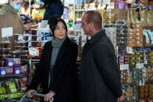 """LAW & ORDER: ORGANIZED CRIME -- """"Say Hello To My Little Friend"""" Episode 103 -- Pictured: (l-r) Tamar"""