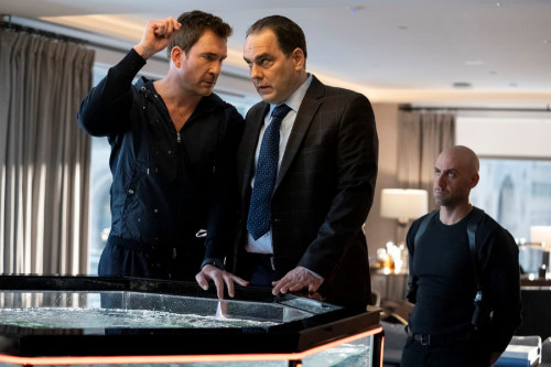 """LAW & ORDER: ORGANIZED CRIME -- """"Say Hello To My Little Friend"""" Episode 103 -- Pictured: (l-r) Dylan"""