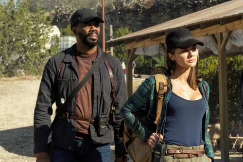 Colman Domingo as Victor Strand, Christine Evangelista as Sherry - Fear the Walking Dead _ Season 6,