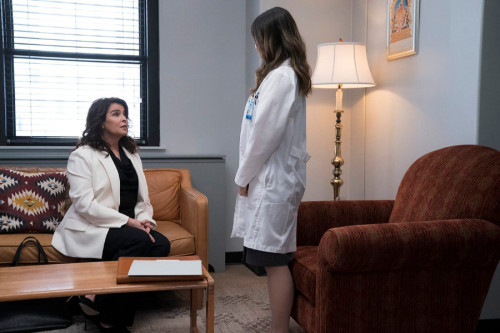 """NEW AMSTERDAM -- """"Disconnected"""" Episode 309 -- Pictured: Annabella Sciorra as Dr. Romy Morales -- (P"""