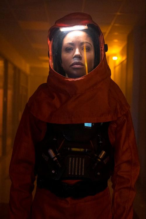 "DEBRIS -- ""A Message From Ground Control"" Episode: 112 -- Pictured: (l-r) Riann Steele as Finola Jon"